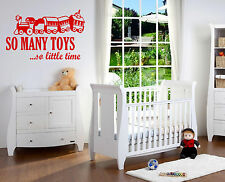 So many toys so little time sticker decal bedroom wall art sticker Vinyl/Decal!