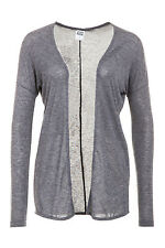 Vero Moda Damen Strickjacke Strickpullover Women LS Cardigan Medium Grey Melange