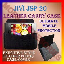 ACM-HORIZONTAL LEATHER CARRY CASE for JIVI JSP 20 MOBILE RICH POUCH COVER HOLDER