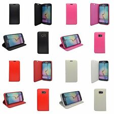SAMSUNG GALAXY S6 EDGE MAGNETIC WALLET BOOK FLIP CASE IN VARIOUS COLOURS