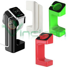 Stand plastica lucida supporto carica ricarica dock per Apple Watch 38mm 2 42mm
