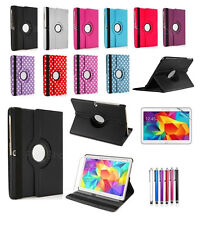 """360 Leather Stand Case Cover For Samsung Galaxy Tab 4 10.1"""" SM-T530/T531/T535"""
