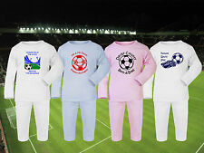 Football Baby/Childrens Pyjamas set PJs - CHOOSE ANY TEAM! 4 Designs - Sleepwear