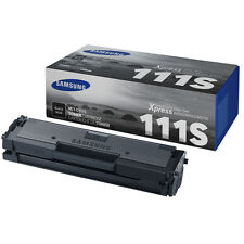 GENUINE SAMSUNG MLT-D111S/ELS (D111S) BLACK MONO LASER PRINTER TONER CARTRIDGE