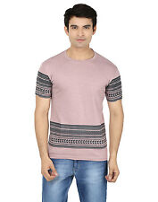 Minute Merge Purple Coloured Cotton Half Sleeve Printed T-Shirt (rts56)