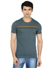 Minute Merge Green Coloured Cotton Half Sleeve Printed T-Shirt (rts46)