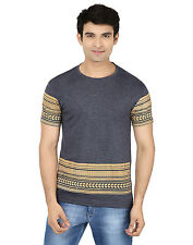 Minute Merge Gray Coloured Cotton Half Sleeve Printed T-Shirt (rts59)