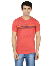 Minute Merge Pink Coloured Cotton Half Sleeve Printed T-Shirt (rts48)