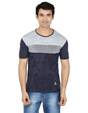 Minute Merge Blue Coloured Cotton Half Sleeve Printed T-Shirt (rts62)