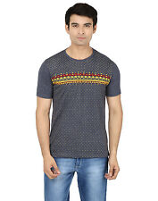 Minute Merge Gray Coloured Cotton Half Sleeve Printed T-Shirt (rts42)