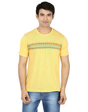 Minute Merge Yellow Coloured Cotton Half Sleeve Printed T-Shirt (rts49)