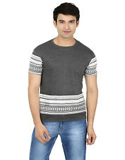 Minute Merge Gray Coloured Cotton Half Sleeve Printed T-Shirt (rts60)