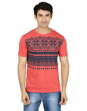 Minute Merge Pink Coloured Cotton Half Sleeve Printed T-Shirt (rts52)