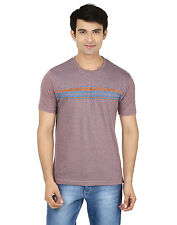 Minute Merge Purple Coloured Cotton Half Sleeve Printed T-Shirt (rts43)