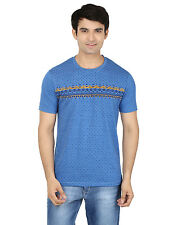 Minute Merge Blue Coloured Cotton Half Sleeve Printed T-Shirt (rts50)