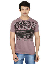 Minute Merge Purple Coloured Cotton Half Sleeve Printed T-Shirt (rts53)