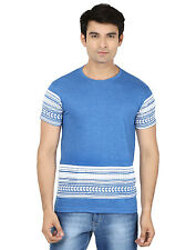 Minute Merge Blue Coloured Cotton Half Sleeve Printed T-Shirt (rts61)