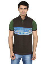 Minute Merge Brown Coloured Cotton Half Sleeve Printed T-Shirt (mts55)