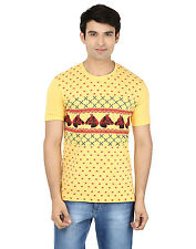 Minute Merge Yellow Coloured Cotton Half Sleeve Printed T-Shirt (rts55)