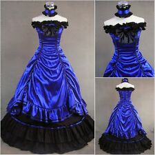 Victorian Edwardian Vintage Marie Antoinette Blue cosplay costume fancy dress