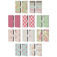 HEAD CASE FRENCH COUNTRY PATTERNS LEATHER BOOK WALLET CASE FOR APPLE iPOD TOUCH