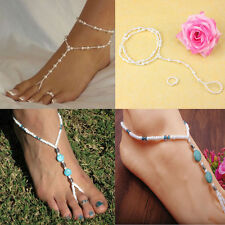Womens Anklets Barefoot Sandal Anklet Bracelet Foot Ankle Chain Toe Ring Jewelry