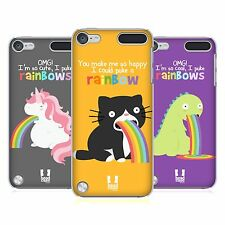 HEAD CASE DESIGNS RAINBOW PUKE HARD BACK CASE FOR APPLE iPOD TOUCH 6G 6TH GEN