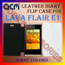 ACM-LEATHER DIARY FOLIO FLIP FLAP CASE for LAVA FLAIR E1 MOBILE FRONT/BACK COVER