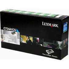 GENUINE LEXMARK C734A1CG CYAN RETURN PROGRAM LASER PRINTER TONER CARTRIDGE