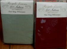 Royal Linens Set of 2 King Size Pillowcases-VARIOUS COLORS-BRAND NEW IN PACKAGE