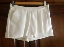 "New ZARA TRF OFF-WHITE SKORT SHORT SKIRT PLEATED  ""3 in 1""  XS S L Avelon"