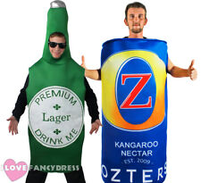 BEER COSTUME BOTTLE CAN NOVELTY FESTIVAL FANCY DRESS COSTUME MENS STAG NIGHT