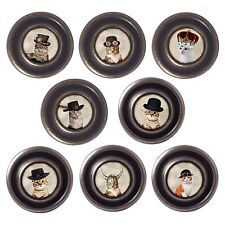 Brass or Pewter Knobs Cats in Hats 32mm Cupboard Drawer Door Handles Decorated