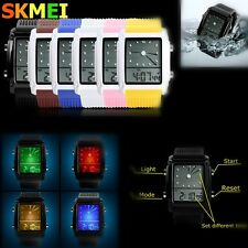 SKMEI Orologio da polso LED LCD digitale Jelly Sportivo Watch Silicone unisex