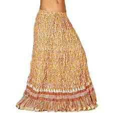 Ethnic Rajasthani Yellow Cotton Long Skirt Beige Long Skirt EIDLI4SKT239