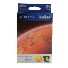 GENUINE BROTHER HIGH CAPACITY YELLOW PRINTER CARTRIDGE LC1100HY-Y / LC1100
