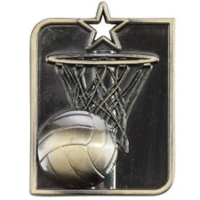 Netball Medal, 53mm x 40mm with FREE Ribbon,Centurion Star Medal (MM15013) trd