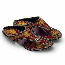 Women Multicolor Fancy Resham Zari Embroidery Work Stylish Chappal EI5WMO326
