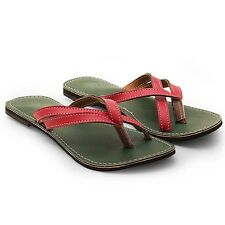 Women Jodhpuri Cross Silsila Design Straps Stylish Green Chappal EI5WMO343
