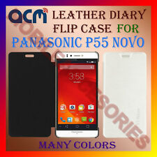 ACM-LEATHER DIARY FOLIO FLIP FLAP CASE for PANASONIC P55 NOVO MOBILE COVER NEW