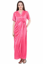 Fasense Exclusive Women Satin Sleepwear 2 PCs Set Of Nighty & Wrap Gown DP111 B