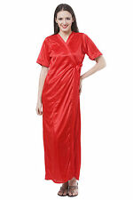 Fasense Exclusive Women Satin Sleepwear 2 PCs Set Of Nighty & Wrap Gown DP111 C