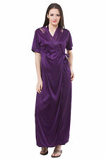Fasense Exclusive Women Satin Nightwear 2 PCs Set Of Nighty & Wrap Gown DP113 E