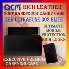 ACM-RICH LEATHER SOFT CASE for ZEN ULTRAFONE 303 ELITE MOBILE HANDPOUCH COVER