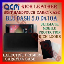 ACM-RICH LEATHER SOFT CASE for BLU DASH 5.0 D41OA MOBILE HANDPOUCH  COVER HOLDER