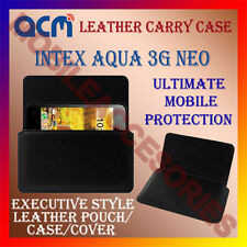 ACM-HORIZONTAL LEATHER CARRY CASE for INTEX AQUA 3G NEO MOBILE POUCH COVER NEW
