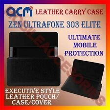 ACM-HORIZONTAL LEATHER CARRY CASE for ZEN ULTRAFONE 303 ELITE MOBILE COVER NEW