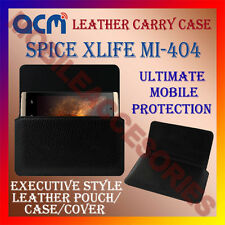 ACM-HORIZONTAL LEATHER CARRY CASE for SPICE XLIFE MI-404 MOBILE POUCH COVER NEW