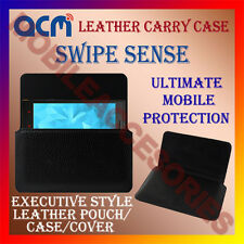 ACM-HORIZONTAL LEATHER CARRY CASE for SWIPE SENSE MOBILE COVER HOLDER PROTECT