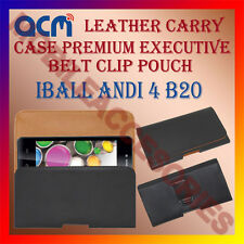 ACM-BELT CASE for IBALL ANDI 4 B20 MOBILE LEATHER POUCH COVER HOLDER HOLSTER NEW